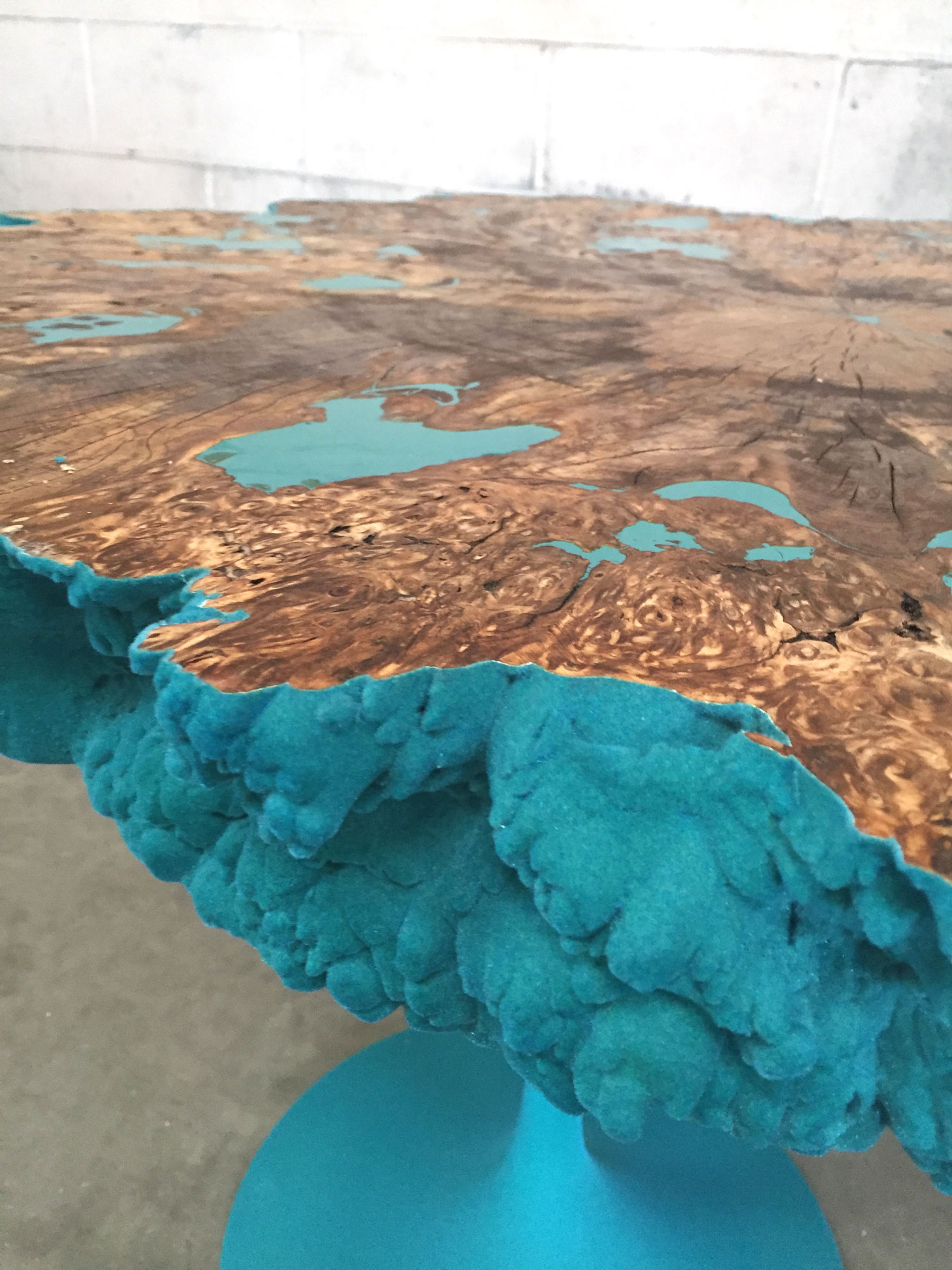 Velvet Coral Side Table